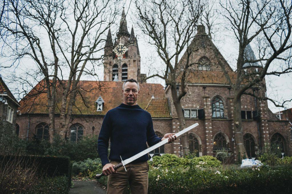 Hans Goedkoop in Museum Prinsenhof Delft